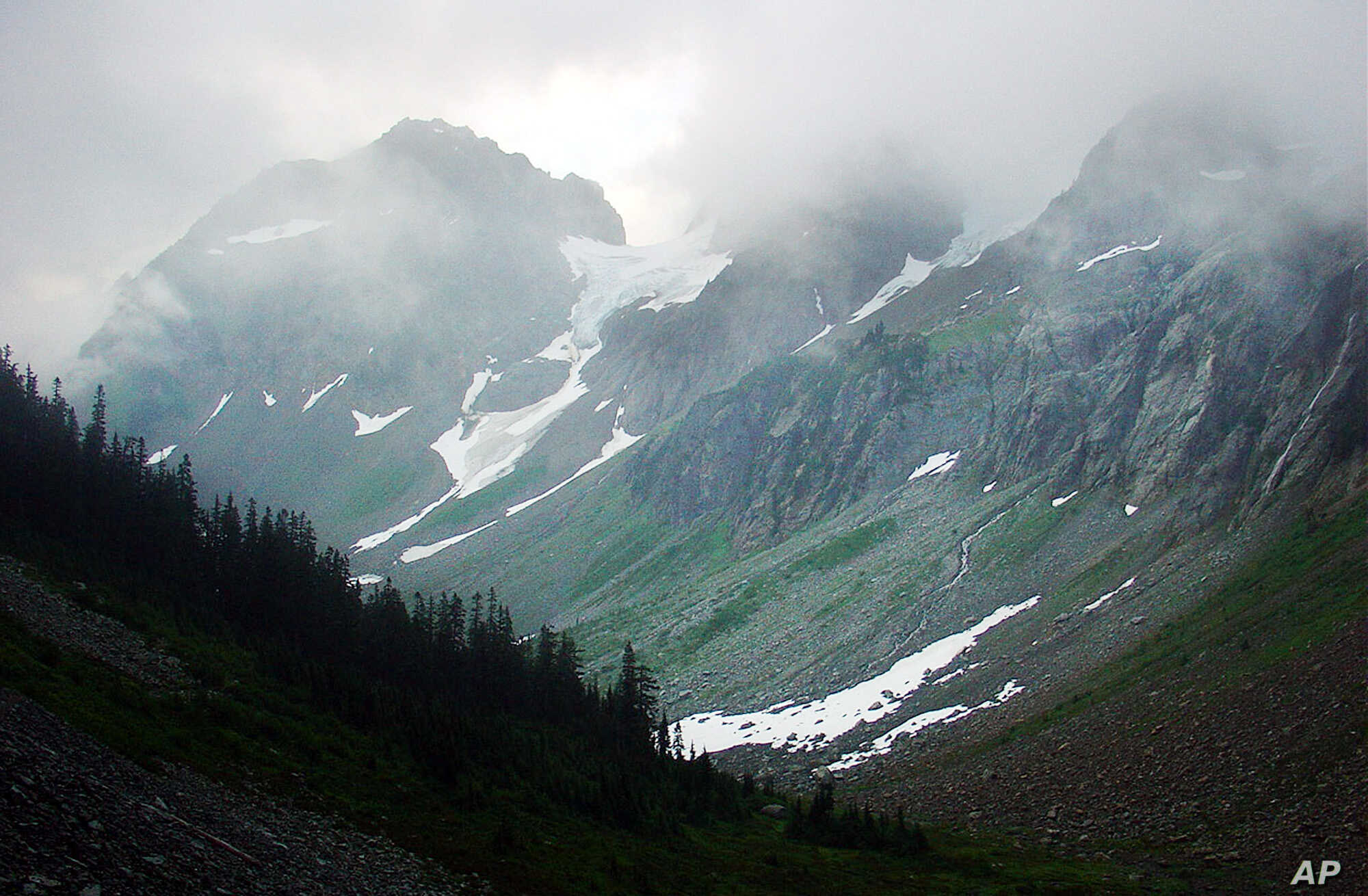 FILE - An overview of the Cascade Range inside the North Cascades National Park near Marblemount, Wash., near the Canadian border. A quarter of the planet's land surface remains wilderness, conservationist James Watson says.