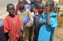 A group of children in the streets of Kano, Nigeria on 17 Nov 2009