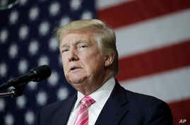 Campaign 2016 Trump: Republican presidential candidate Donald Trump speaks at a rally, Saturday, Oct. 1, 2016, in Manheim, Pa.
