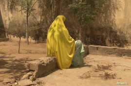 A woman who told Amnesty International that she was abused by the Nigerian army during its fight against Islamist insurgency Boko Haram is pictured in Maiduguri, Nigieria in Feb. 18, 2017 picture supplied by Amnesty International.