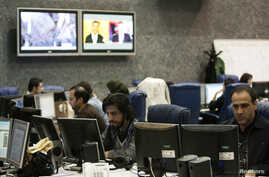 EDITORS' NOTE: Reuters and other foreign media are subject to Iranian restrictions on leaving the office to report, film or take pictures in Tehran.A view shows the Press TV's Newsroom in Tehran, January 21, 2012.