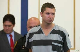 Former University of Cincinnati police officer Ray Tensing appears at Hamilton County Courthouse for his arraignment in the shooting death of motorist Samuel DuBose, July 30, 2015, in Cincinnati.