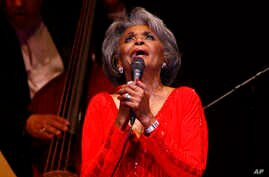 FILE - Singer Nancy Wilson performs at her Swingin' 70th Birthday Party at Carnegie Hall in New York, June 29, 2007. The Grammy-winning jazz and pop singer Wilson has died at age 81.