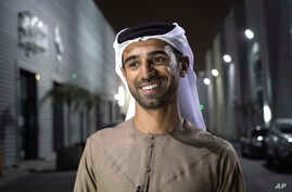 In this Aug. 18, 2017 photo, Emirati filmmaker Abdulla Al Kaabi speaks to The Associated Press in Dubai after screening his film Only Men Go To The Grave.