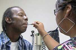 Wilbert Smith, a patient at the Free Health Clinic in Arlington, Virginia lost his health insurance when he lost his job.