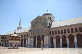 The Umayyad Mosque of Damascus, once the Basilica of St. John the Baptist and one of Islam's oldest places of worship. UNESCO director-general raised alarm over wartime destruction of Syria's cultural history. (Christian Sahner)