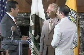 A gay marriage ceremony in California.