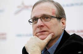 FILE - Microsoft co-founder Paul Allen at a news conference. Allen's team found the the Japanese Imperial Navy's massive battleship Musashi.