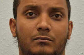 This is an undated handout file photo issued by the Crown Prosecution Service of Junead Khan. Khan a British delivery driver was sentenced to at least 12 years prison, May 13, 2016, for an Islamic State group-inspired plot to attack American military