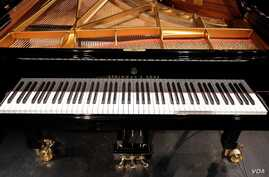 The Hamburg Steinway played by competitors in the 15th Van Cliburn International Piano Competition held at Bass Performance Hall in Fort Worth, Texas.