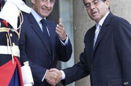 Libyan Opposition Meets with France's Sarkozy