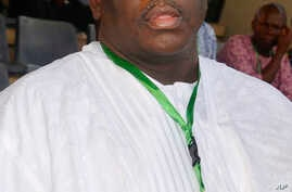 FILE - In this Sunday, Oct, 12, 2014 file photo, Buruji Kashamu attends a primary election event for Nigerian President Goodluck Jonathan in Abuja, Nigeria.