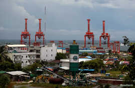 The Sihanoukville Autonomous Port is seen at the Sihanoukville, Cambodia, Sept. 28, 2017.