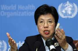 China's Margaret Chan, newly elected director general of the World Health Organization WHO, answers questions during a press conference at the WHO headquarters in Geneva, Switzerland, Thursday evening, Nov. 9, 2006. Bird flu and SARS battler Margaret