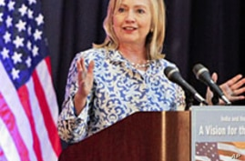 Clinton Urges More Assertive Indian Role in Central, East Asia