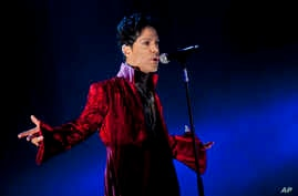 U.S. musician Prince performs during his concert at the Sziget Festival on the Shipyard Island, northern Budapest, Hungary, Aug. 2011.