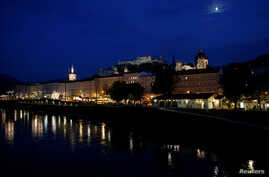 A general view shows the old town and the castle of Salzburg, Austria, Sept. 18, 2018.