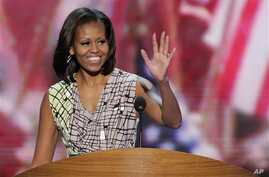 First Lady Michelle Obama during a sound check at the Democratic National Convention, Charlotte, N.C., Sept. 3, 2012.