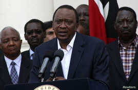 Kenya's President Uhuru Kenyatta addresses the nation on the Westgate shopping mall attack in the capital Nairobi, Sept. 22, 2013.
