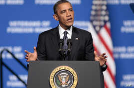 President Barack Obama addresses convention of Veterans of Foreign Wars in Reno, Nev. July 23, 2012