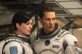 Matthew McConaughey and Ann Hathaway are seen in this studio handout photo from the movie 'Interstellar.'