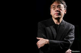 FILE - Author Kazuo Ishiguro photographed during an interview with Reuters in New York,  Apr. 20, 2005.