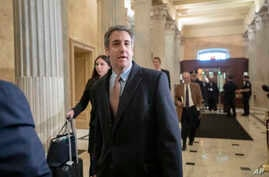 Michael Cohen, President Donald Trump's former lawyer, returns to Capitol Hill for a fourth day of testimony as Democrats pursue a flurry of investigations into Trump's White House, businesses and presidential campaign, in Washington, March 6, 2019.