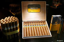 Cohiba cigars are displayed during the opening of the XX Habanos Festival in Havana, Cuba, Feb. 26  2018.