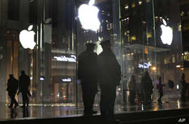 APTOPIX Apple Encryption Protests