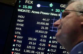 A board above the trading floor of the New York Stock Exchange shows the Dow Jones industrial average above 19,000 for the first time, Tuesday, Nov. 22, 2016. Stocks have mostly rallied since the Nov. 8 election, ending the day at 19,023.87.