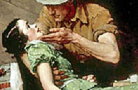 The man in this Norman Rockwell painting is reminiscent of Indiana Jones, a character created by George Lucas.