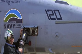 Navy airplane is fueled with biofuels