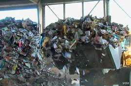 A recycling center in Maryland