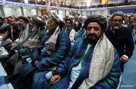 Members attend the Loya Jirga in Kabul, Nov. 21, 2013.