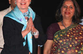 Clinton in India for Economic, Security Talks