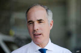 FILE - U.S. Sen. Bob Casey, D-Pa., was one of two senators to announce Tuesday that he would back the nuclear agreement with Iran.