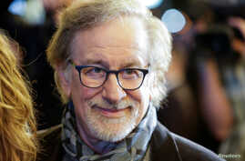 "FILE - Director Steven Spielberg arrives at the debut of ""Springsteen on Broadway"" at the Walter Kerr Theatre in New York, Oct. 12, 2017."