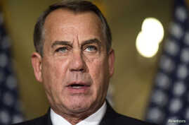 Speaker of the House John Boehner (R-OH) denounces executive order on immigration made by U.S. President Barack Obama during a statement on Capitol Hill, Washington, Nov. 21, 2014.