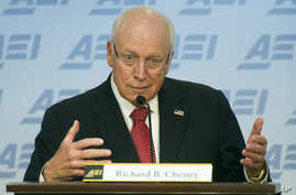 FILE - Former Vice President Dick Cheney speaks at the American Enterprise Institute (AEI)  in Washington, Sept. 10, 2014, about the current state and future of American foreign policy.