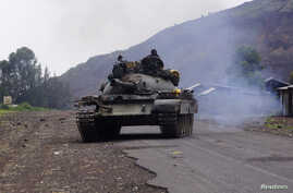 Congo Soldiers Tank