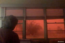 A dust storm in New South Wales, Australia, Dec. 31, 2018, in this picture from social media, Jan. 2, 2019. A heat wave has hit the southeastern part of the continent, prompting health concerns.