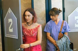 "This image released by A24 Films shows Saoirse Ronan, left, and Laurie Metcalf in a scene from ""Lady Bird."" The 62-year-old Metcalf has already gotten supporting actress nominations from the Screen Actors Guild, the Golden Globes and the Independent"