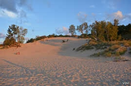 Indiana Dunes National Lakeshore is known for its beautiful beaches.