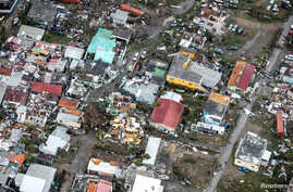 View of the aftermath of Hurricane Irma on Sint Maarten, Dutch part of Saint Martin island in the Caribbean, Sept. 6, 2017.