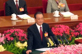 Premier Wen Jiabao delivers government work report