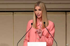 Ivanka Trump, the daughter and adviser to U.S. President Donald Trump, delivers a speech at World Assembly for Women: WAW! 2017 conference in Tokyo, Nov. 3, 2017.