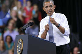 In Phoenix. Obama was in Arizona to discuss the economy and the middle class, August 6, 2013.