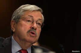Iowa Governor Terry Branstad testifies before a Senate Foreign Relations Committee confirmation hearing on his nomination to be U.S. ambassador to China, at Capitol Hill in Washington, D.C., May 2, 2017.