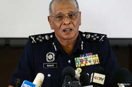 Malaysia's National Police Deputy Inspector-General Noor Rashid Ibrahim speaks during a news conference regarding the apparent assassination of Kim Jong Nam, the half-brother of the North Korean leader, at the Malaysian police headquarters in Kuala