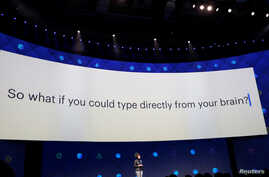 Regina Dugan, vice president of engineering of Building 8 at Facebook, speaks on stage during the second day of the annual Facebook F8 developers conference in San Jose, California, April 19, 2017.